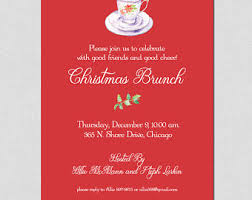 christmas brunch invitations christmas brunch etsy