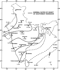Map Of Monsoon Asia by Monsoons