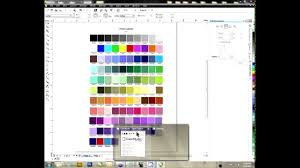 creating a color palette in coreldraw youtube