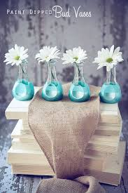 Subtle Floral DIY Decor Paint Dipped Bud Vases