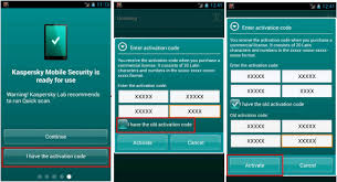 how to activate kaspersky mobile security android