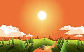 create a landscape wallpaper for your desktop