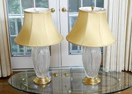 Waterford Table Lamps Table Lamps Pair Of Waterford Crystal Reflections Table Lamps