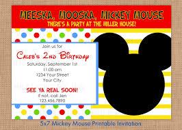 mickey mouse blank invitations free printable invitation design