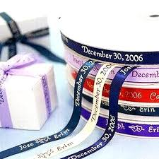 personalized ribbon 3 8 continuous personalized ribbon favor boxes 25 yard efavormart
