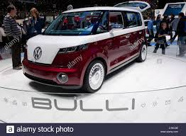 electric volkswagen van volkswagen bulli concept electric vehicle at the geneva motor show