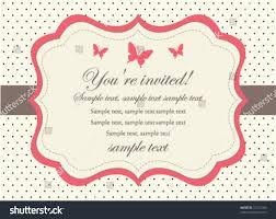 Invitation Card Picture Butterfly Invitation Card Stock Vector 72211786 Shutterstock