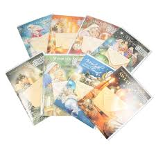 center assorted religious cards with