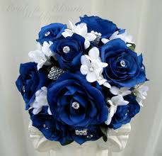 blue wedding bouquets blue wedding bouquet in bloom