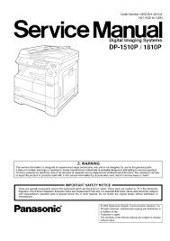 calaméo panasonic dp 1510 dp 1810 service manual