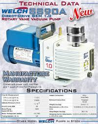 new welch 8890 8890a direct drive gem 1 0 directorr high vacuum