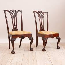 Chippendale Dining Room Chairs by Pair Of Philadelphia Chippendale Style Chairs In Mahogany C 1870