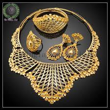 2018 dubai 24k gold jewelry set price from yuminglai168