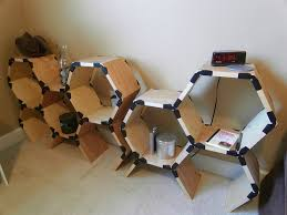 furniture interesting modular bookshelves with hexagonal design