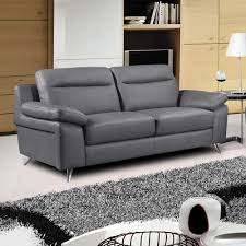 Modern Gray Leather Sofa by Grey Leather Furniture Seater Grey Leather Sofa Marseille Teal