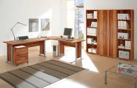 Eckschreibtisch Nussbaum Office Line Heimbüro 7tlg Walnuss Dekor