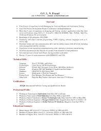 Resume For Software Developer Fresher Sample Resume Format For Freshers In Software Testing