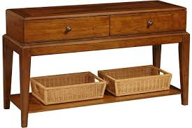 knotty cherry living room tables sofa table with basket storage