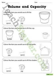 estimating volume 1st grade worksheets worksheets and 1st grades