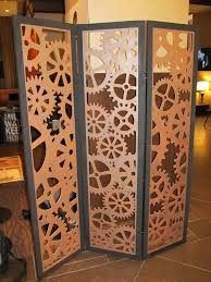 canvas room divider steampunk tri fold room divider tri fold steampunk and room