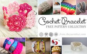 bracelet patterns free images Crochet bracelet pattern collection the yarn box the yarn box png
