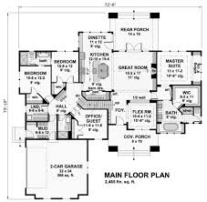 cottage style house plan 4 beds 3 00 baths 2465 sq ft plan 51 568 cottage style house plan 4 beds 3 00 baths 2465 sq ft plan 51