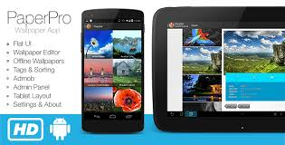 layout download android paperpro rich android wallpaper app template nulled download