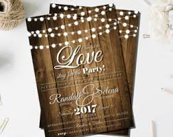 country style wedding invitations string lights wedding invitations printed wooden wood look