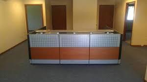Herman Miller Reception Desk Mahogany Glass Reception Station Herman Miller Ethospace Scp