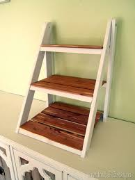 mini ladder shelf for serving u0026 organization shelves