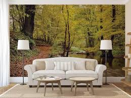 wall decor home decor home living wall mural decal forest yellow trees wall decal forest wall mural wall mural