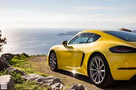 Porsche Boxster Yellow - first drive porsche 718 cayman racing yellow in south of france
