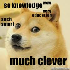 Doge Wow Meme - doge such smart wow very education so knowledge much clever