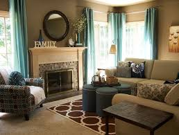 Teal Living Room Curtains Teal And Taupe Living Room Contemporary Living Room Grand