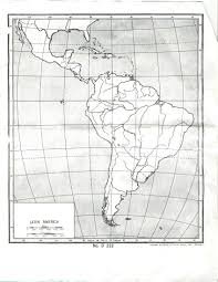 Latin America Map by Latin America Map With Lines Of Latitude And Longitude