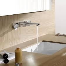 Wall Mounted Bathroom Faucet Simple Wall Mount Faucet By Dornbracht