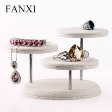Jewelry Shop Decoration Aliexpress Com Buy Fanxi Creamy White Round Disc Table Display