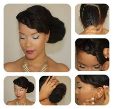 natural hair bun styles with bang natural hair tutorial a bang twist perfect for date night how