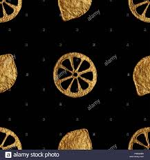 seamless lemon pattern abstract lemon pattern gold hand painted seamless background
