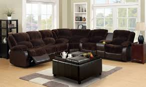 Reclining Sectional Sofas by Furniture Of America Cm6556cp Winchester Transitional Brown