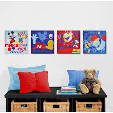 disney mickey mouse 4 pack canvas wall art walmart com