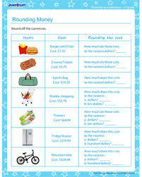 rounding money rounding and estimating worksheet for 2nd grade
