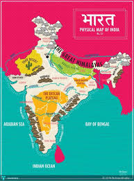 Physical Features Map Of Africa by Map Of India Physical Features Touchtalent For Everything