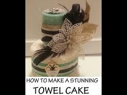 Towel Cake Housewarming Gift Tutorial Youtube Baby Shower