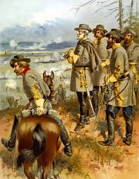 civil war painting general lee at the battle of fredericksburg by war is