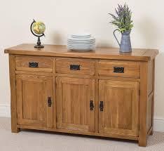 Large Sideboards Cotswold Rustic Solid Oak Large Sideboard Oak Furniture King