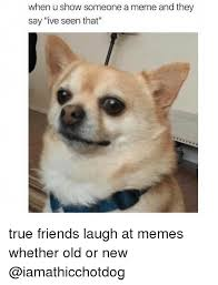 I Need New Friends Meme - when u show someone a meme and they say ive seen that true friends