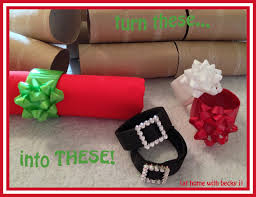 at home with becky j diy holiday napkin rings christmas craft