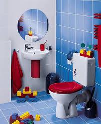 White And Blue Tiles In Bathroom Bathroom Tiles For Kids Interior Design