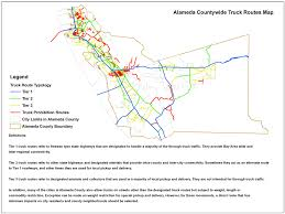 Truck Route Maps Goods Movement Plan Alameda Ctc